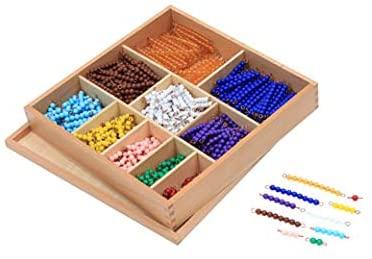 Montessori multiplication beads
